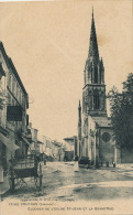 COUTRAS - Clocher De L'Église Saint Jean Et La Grand'Rue - Autres Communes