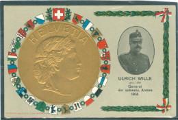 Relief - Gaufrée - Embossed - Prage - Général Wille  - TBE - Superbe - Non Classificati