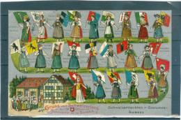 Relief - Gaufrée - Embossed - Prage - Costumes Suisse  - TBE - Superbe - Non Classificati
