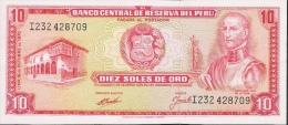 PERU   P100b  10   SOLES   1970   UNC. - Pérou