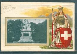 Relief - Gaufrée - Embossed - Prage - Strassburger Denkmal - TBE - Superbe Précurseur - BS Bâle-Ville