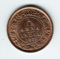 @Y@    Britsch  India Company 1/12 Anna 1933  (2903)  AUNC - Inde