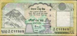 NEPAL P64b  100  RUPEES   2008  Signature 13 VF  NO P.h. ! - Nepal