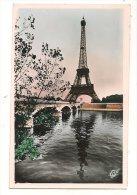 L45A_366 - Paris - 1057 La Tour Eiffel Et La Seine - Jolie Oblitération Et Vignette Souvenir - Tour Eiffel
