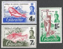Gibraltar. 1966 European Sea Angling Cjhampionships, Gibraltar. MH Complete Set. SG 190-192 - Gibraltar