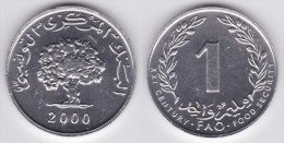 TUNEZ  1  MILLIM  2.000  ALUMINIO F.A.O.  KM#349  SC/UNC       DL-11.594 - Túnez
