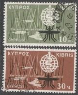 Cyprus. 1962 Malaria Eradication. Used Complete Set. SG 209-210 - Cyprus (Republic)
