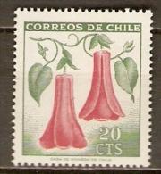 CHILI   .   1969 .  Y&T N° 333 **.   Fleurs - Chile