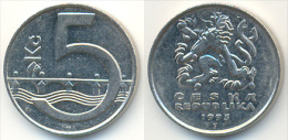 REPUBLICA CHECA   5  CORONAS  1.995  Niquel-Acero   KM#8   MBC/VF      DL-11.595 - Tchéquie