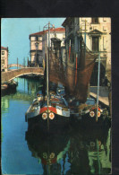 P4722 CHIOGGIA, CANAL VENA - SCENA CARATTERISTICA - Barche Da Pesca, Boat Barques - Chioggia