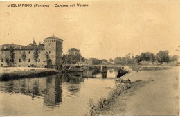 Emilia Romagna-ferrara-migliarino Darsena Sul Volano Veduta Ponte Primi 900 - Italia