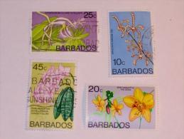BARBADES / BARBADOS   1974-7  LOT #7  FLOWERS - Barbades (1966-...)
