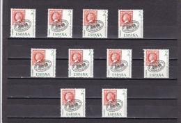 España Nº 1974 - 10 Sellos - 1931-Hoy: 2ª República - ... Juan Carlos I