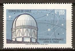 CHILI   .   1971.    Y&T N° 374 **.     Observatoire Astronomique - Cile