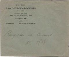 Egide Devroey-Beckers  - Tiensche Straat 238 Leuven : Enveloppe Met Briefhoofding - Vieux Papiers