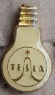 Nikola TESLA  Czechoslovakia Electronic Industry Electricity Pin Badge - Trademarks