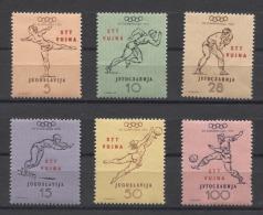 Triest B Olympics Olympic Swimming Soccer JO 1952 Mi#698-703 MNH - Summer 1952: Helsinki