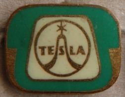 Nikola TESLA  Czechoslovakia Electronic Industry Electricity Pin Badge - Marques