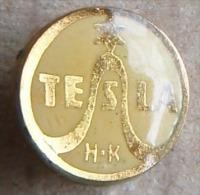 Nikola TESLA  Czechoslovakia Electronic Industry Electricity Pin Badge - Markennamen