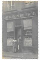 AU GAMIN DE PARIS Carte Photo Devanture De Café Animation - Cafés