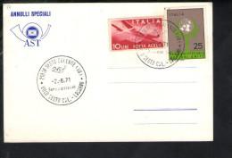 P4734 Storia Postale, ANNULLI SPECIALI AST  - Comune Di SESTO CALENDE 1971 ( Varese )+ Bollo Filatelici Aerea NICE STAMP - 6. 1946-.. Repubblica