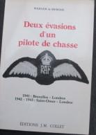 2e Guerre Belges RAF évasions De De Mérode 350 Squadron Avion Aviation - 1939-45
