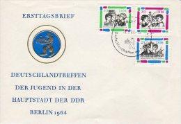 DDR 1964 Youth Meeting Set On FDC..  Michel 1022-24 - [6] Democratic Republic