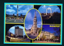 HUNGARY  -  Budapest  Multi View  Unused Postcard - Hungary