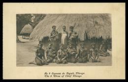 MOÇAMBIQUE - COSTUMES - As 9 Esposas Do Regulo Nhango ( Ed. J. Fernandes Moinhos Nº 212) Carte Postale - Mozambique