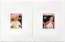 WALLIS ET FUTUNA EPREUVES DE LUXE DES PA 86/88 PAPES PAUL VI ET JEAN PAUL 1er - Non Dentelés, épreuves & Variétés