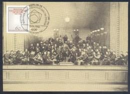 Germany Deutschland Maximum Card 1982: Music Musik: Berlineer Philharmonisches Orchester 100 Jahre - Music