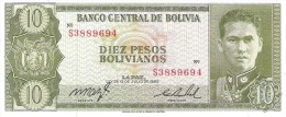 Bolivia - Pick 154 - 10 Pesos Bolivianos L. 1962 - Unc - Bolivia