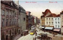 NEUSS A Rhein - Nordrh. W. - Marktplatz Mit Rathaus - Tram - Neuss