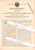 Original Patent  - Dr. Georg Lunge In Zürich , 1884 , Bleichen Vegetabilischer Stoffe Mit Chlorkalk !!! - Documents Historiques