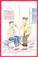 """CPSM Illustrateurs * Dessin *  Humour Militaire * Soldat Coiffeur """" Je Gratte La Couenne Des Cochons"""" 2 Scans - Humoristiques"""