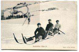 - NSW - Australian Alps A., Kerry & Co, Sydney, Mont Koscuisko, Tobogganing, Luge, Non écrite, TBE, Scans. - Australie