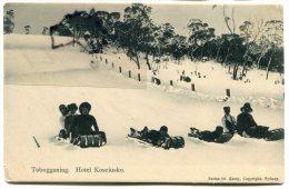 - NSW - Australian Alps A., Hôtel, Mont Koscuisko, Tobogganing, Luge, Rare, Super Anim, Non écrite, TBE, Scans. - Australie