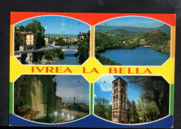 P4795 IVREA ( Torino ) + TIMBRO RADIO CLUB ( TIMBRE ) - Multipla: Lago Sirio, Monumento Camilio Olivetti, Torre - Italië