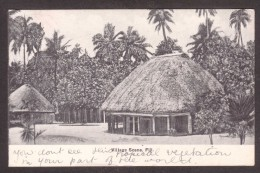 FI134) Fiji Village Scene - Posted 1909 - Fidschi