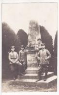 Carte  Photo Militaire Allemand-Soldats Monument Aux Morts - Bataille Bapaume 5 Janvier 1871-Feldpost-Guerre-Krieg - Bapaume