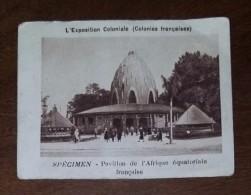Image Publicitaire Chromo :  LA VACHE QUI RIT Specimen - L'exposition Coloniale Colonies Françaises Pavillon Afrique - Trade Cards