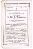 OOSTKAMP - BRUGGE , Doodsprentje Van Burgemeester Louis-Joseph De Bie De Westvoorde, + 1873 - Religion &  Esoterik