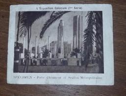 Image Publicitaire Chromo :  LA VACHE QUI RIT Specimen - L'exposition Coloniale  PORTE D HONNEUR - Trade Cards
