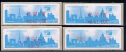 ATM, LISA 1, MONETEL, MICHEL N°15,  2.70FRF/ 0,41 EUR- 3.00 FRF/ 0.46EUR, Avec Les Reçus En ESPAGNOL. Philexfrance 2000. - 1999-2009 Viñetas De Franqueo Illustradas