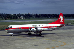 Aviation Postcard-604-ROYAL AIR LAO L-188 ELECTRA - 1946-....: Era Moderna