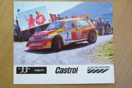 CP RALLYE - MG METRO 6R4 33 EXPORT GR.B Avec DIDIER AURIOL BERNARD OCCELLI CHAMPIONS 1986 FRANCE (WRC) - Rally Racing