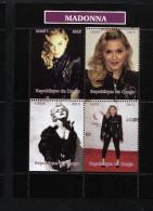 MADONNA,ROCK LEGENDS On SOUVENIR SHEET Of 4 STAMPS,MNH,Mint,#BA163 - Famous Ladies