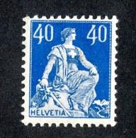 9610  Swiss 1922  Michel #170Xb*  ( Cat. 1.80€ ) - Svizzera
