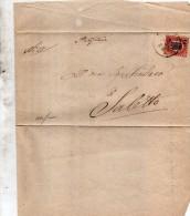 1878   LETTERA - Fiscale Zegels