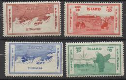P525.-. ICELAND / ISLANDIA - 1933 . SC#: CB1 - B4 - SEMIPOSTAL STAMPS  .-. MH .  CV:US$ 8.00 - Unused Stamps